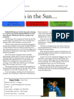 soccer newsletter april 13 2013