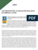 Los Desafios de La Educacion Inclusiva