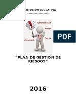 Plan de Gestión de Riesgo