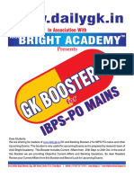 Oct 2015 Gk Booster 2 Final Ibps Po Mains