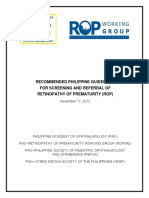 PAO Retinopathy of Prematurity Guidelines (2013)