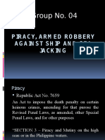 Piracy, Armed Robbery Against Ship and Sea[1]