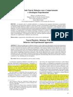 Plasticidade Neural Relações Com o Comportamento e Abordagens Experimentais
