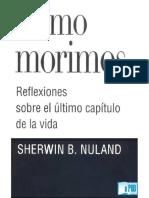 Cómo Morimos Sherwin B. Nuland