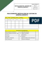Po-el-038-177 Instalación Del Sistema de Apantallamiento