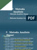 05 Metoda Analisis Dasar & Umum