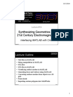 Interfacing MATLAB With CAD