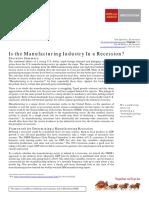 Manufacturing Recession 20160111