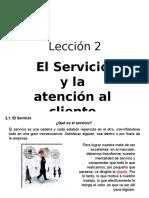 El Servicio y La Atención Al Cliente Telefónico