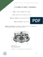 Laboratorio de Sistemas de Control y Mecatrónica Practica 3