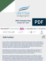 ASNA 2015 Investor Day - ASNA - Presentation