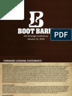 BOOT Jan 2016 Investor Presentation