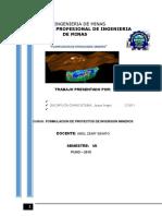 Proyecto De Formulación de Proyectos