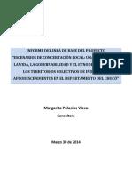 Informe de Linea de Base 2014