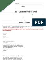 Season 2 Quotes - Criminal Minds Wiki