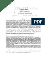 Capital Adequacy & Banking Risk – an Empirical Study on Vietnamese Banks