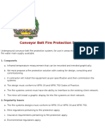 Conveyor Belt Fire Protection System (+)
