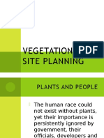 Vegetation and Site Planning