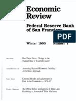 Assessing Regional Economic Stability
