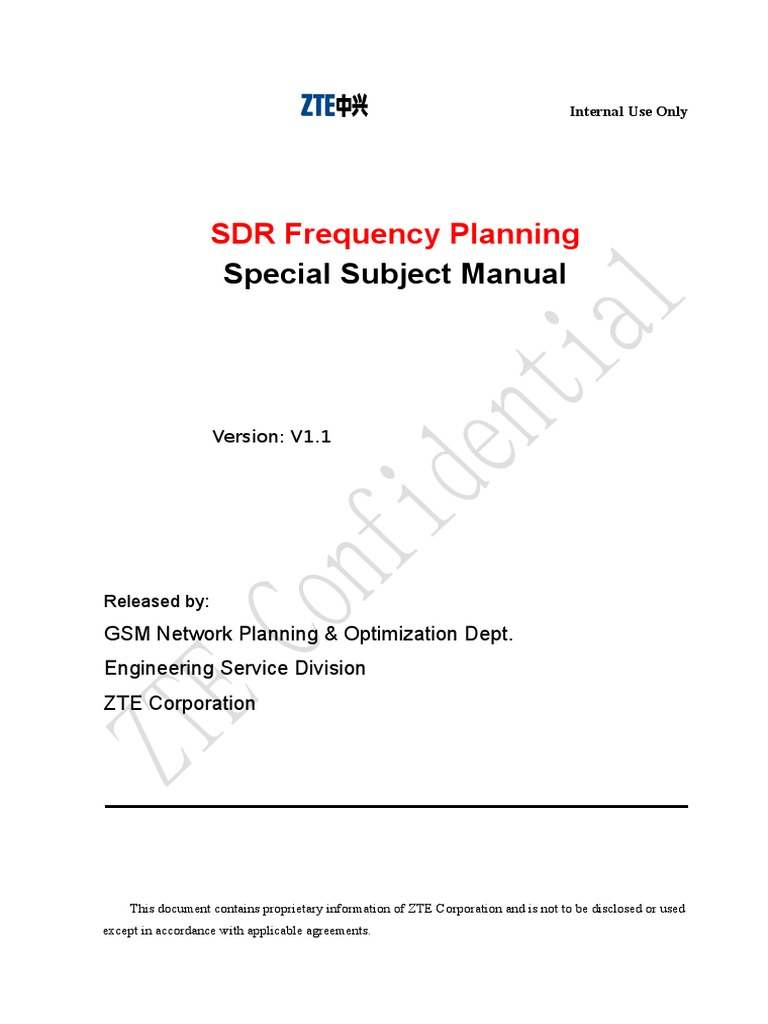 GSM P&O Special Subject Manual-SDR Frequency Planning V1.1 | Bandwidth  (Signal Processing) | Gsm
