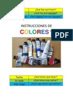 Instrucciones de Colores 1