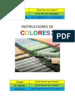 Instrucciones de Colores 3