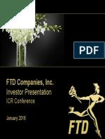 FTD Jan 2016 Investor Presentation