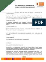 2ley Sobre El Régimen de Propiedad en Condominio de Bienes Inmuebles Del Estado de Chiapas