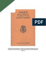 Orden Politico Cristiano