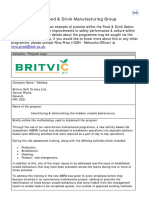 Britvic Identifying Eliminating the Hidden Unsafe Behaviours