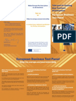 European Business Test Panel - Take part in shaping your business environment