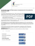 CNSC Comisión Nacional Del Servicio Civil - Se Reanuda La Etapa de Venta de Pines e Inscripciones de La Convocatoria No