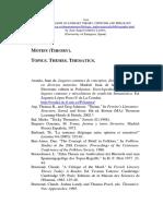 Motifs, Topics, Thematics