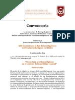 Convocatoria XIX RIFREM (Mesas)