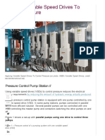 Applying Variable Speed Drives to Control Pressure