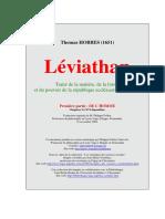 Leviathan 1e Partie hobbes