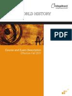 AP World History Course and Exam Description
