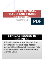 Business Ethics, Fraud and Fraud Detection
