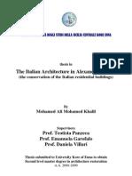 The Italian Architecture in Alexandria, Egypt