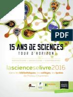 Programme La Science se Livre 2015-16