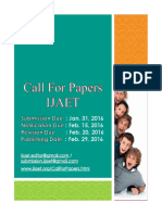 Call for Papers 2016 -IJAET