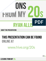 Lessons From My 20s by Ryan Allis