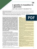 Conservation Genetics to Conservation Genomics