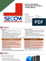 Secom Case study