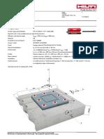 250x16 Shs Column Base Report