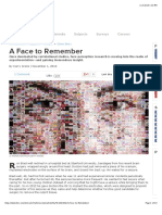 A Face to Remember  The Scientist Magazine®