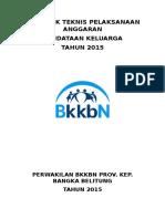 Petunjuk Teknis Pelaksanaan Anggaran