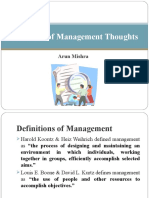 Evolution of Management Thoughts