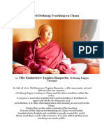 A Sacred Drikung Teaching on Cham - Togden Rinpoche