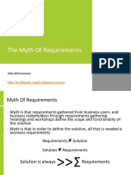 The Myth of Requirements